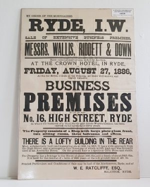 Original Sale Poster Ryde isle Of Wight