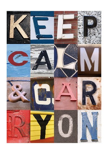 KEEP CALM AND CARRY ON, ACSII, VINTAGE LETTERS, LIMITED EDITION PRINT, FINE ART PRINT