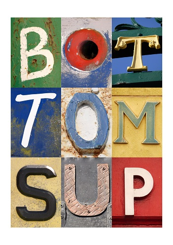 BOTTOMS UP, ACSII, VINTAGE LETTERS, FINE ART PRINT, LIMITED EDITION PRINT
