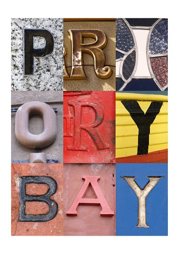 PRIORY BAY, ISLE OF WIGHT, ACSII, VINTAGE LETTERS, LIMITED EDITION PRINT, FINE ART PRINT