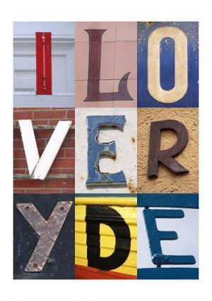 I LOVE RYDE, ISLE OF WIGHT, ACSII, VINTAGE LETTERS, LIMITED EDITION PRINT, FINE ART PRINT