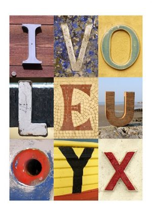 I LOVE YOU, VALENTINE, ACSII, VINTAGE LETTERS, LIMITED EDITION PRINT, FINE ART PRINT