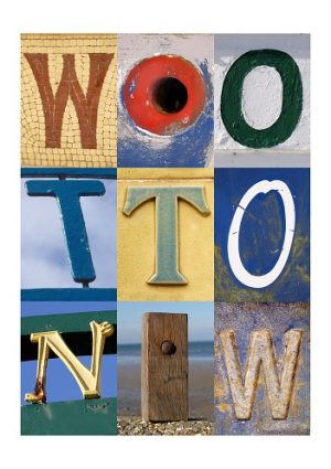 WOOTTON , ISLE OF WIGHT, ACSII, VINTAGE LETTERS, LIMITED EDITION PRINT, FINE ART PRINT