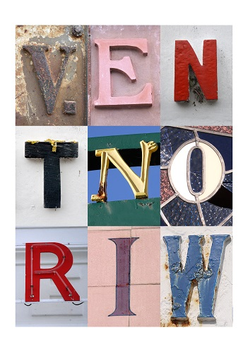 VENTNOR, ISLE OF WIGHT, ACSII, VINTAGE LETTERS, LIMITED EDITION PRINT, FINE ART PRINT