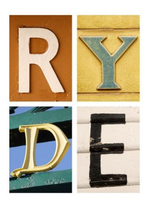 RYDE, ISLE OF WIGHT, ACSII, VINTAGE LETTERS, LIMITED EDITION PRINT, FINE ART PRINT