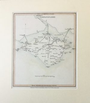 Isle of Man Wight Map Engraving