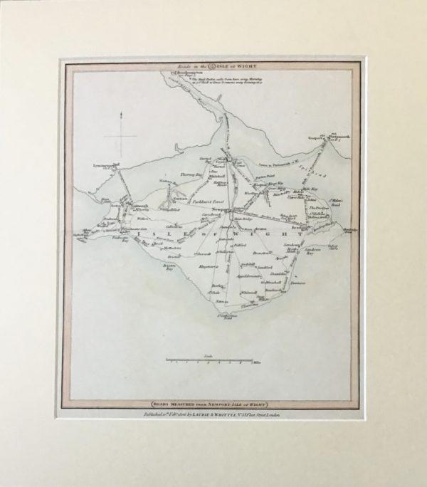 Isle of Man Wight Map Engraving