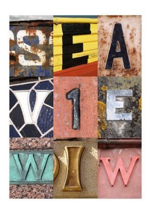 Seaview, Isle of Wight, vintage letters, limited edition print, fine art print