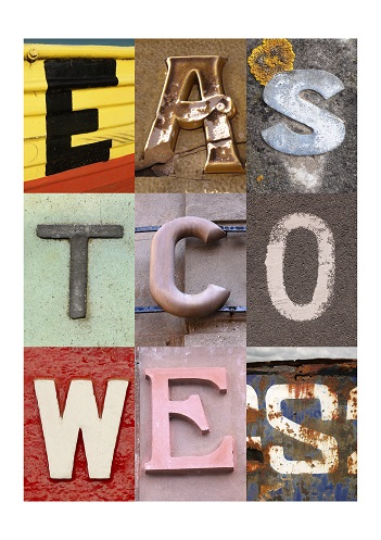 EAST COWES, ISLE OF WIGHT, ACSII, VINTAGE LETTERS, LIMITED EDITION PRINT, FINE ART PRINT
