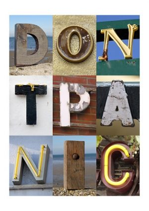 DONT PANIC, ISLE OF WIGHT, ACSII, VINTAGE LETTERS, LIMITED EDITION PRINT, FINE ART PRINT