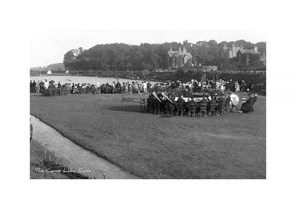 Vintage photograph of the Canoe Lake Ryde Isle Of Wight