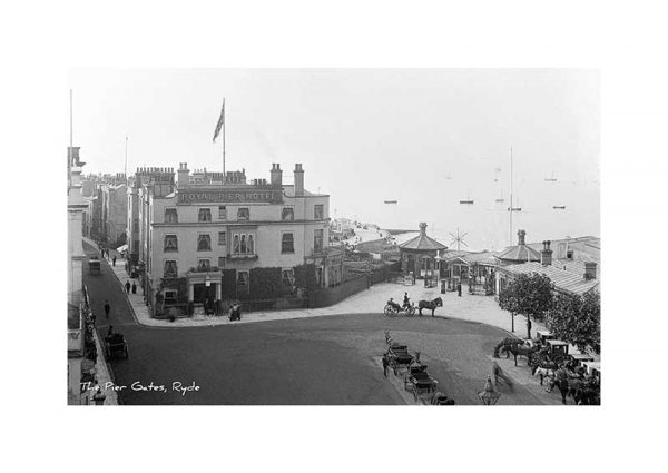 Vintage photograph of The Pier Gates Ryde Isle Of Wight