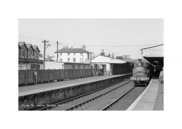 Vintage Photograph Ryde St Johns Stn Isle Of Wight