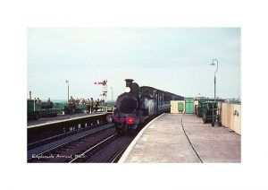 Vintage photograph Steam train Ryde esplanade isle of wight