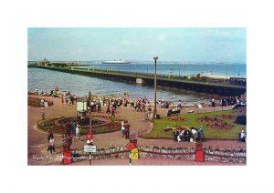 Vintage photograph Ryde Pier & Esplanade Isle Of Wight