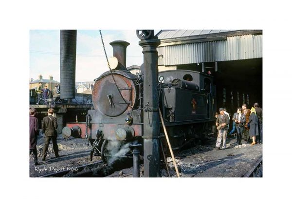 vintage photograph Ryde depot 1966 Isle Of Wight