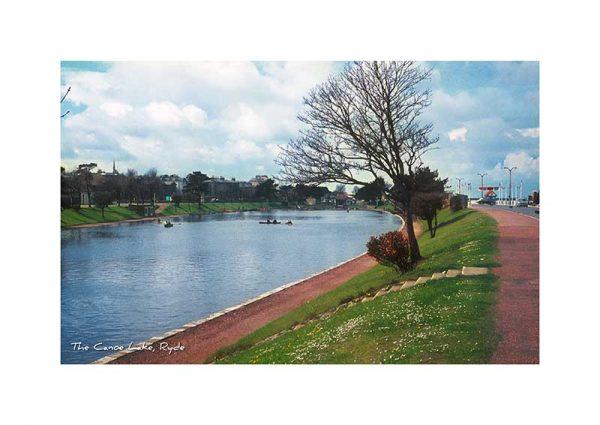 Vintage photography The Canoe Lake Ryde Isle Of Wight