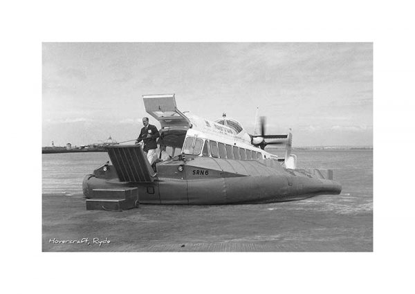 Vintage photography Hovercraft Ryde Isle Of Wight