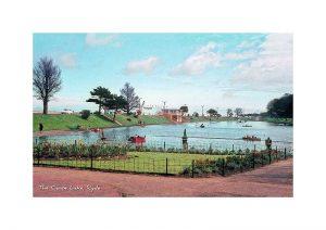 Vintage photograph Canoe Lake Ryde isle Of Wight