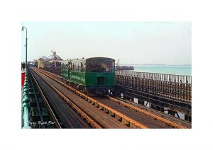 Vintage photograph Tram Ryde Pier Isle Of Wight