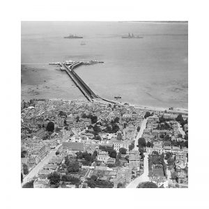 Vintage photograph Ryde Aerial Isle Of Wight
