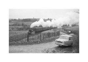 Vintage photograph Steam Train Smallbrook Isle Of Wight