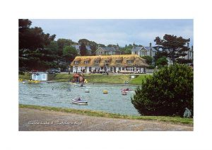 Vintage photograph of the Canoe Lake Thatchers end Ryde Isle Of Wight