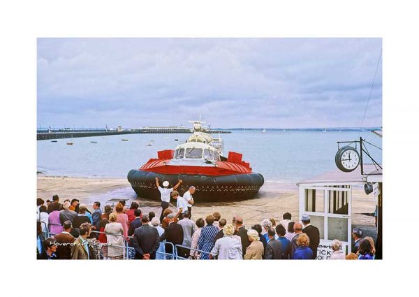 Vintage photograph of the Hovercraft Ryde Isle Of Wight