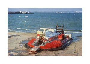 Vintage photograph Hovercraft Ryde Isle Of Wight
