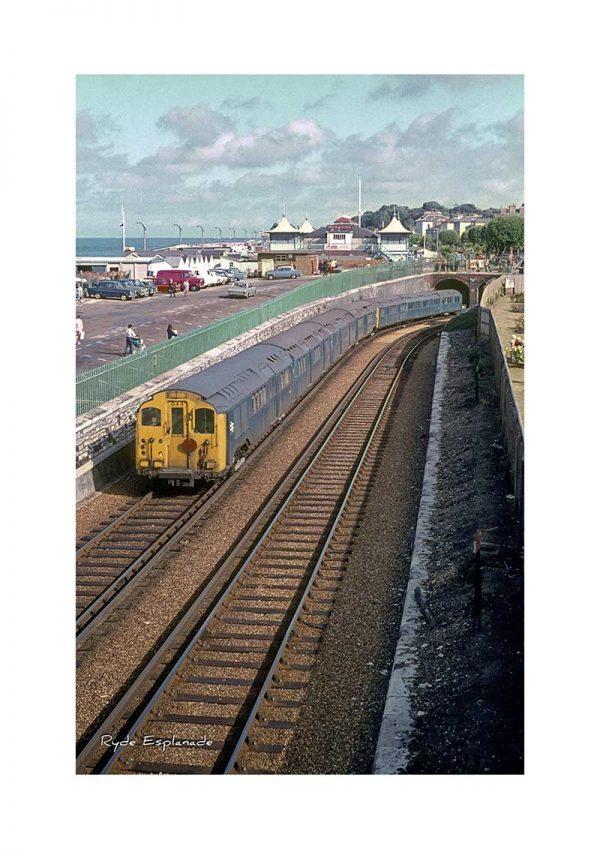 Vintage photograph Train Ryde Esplanade Isle Of Wight
