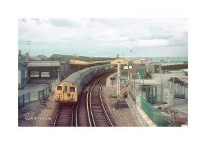 Vintage photograph Train at Ryde Esplanade Isle Of Wight