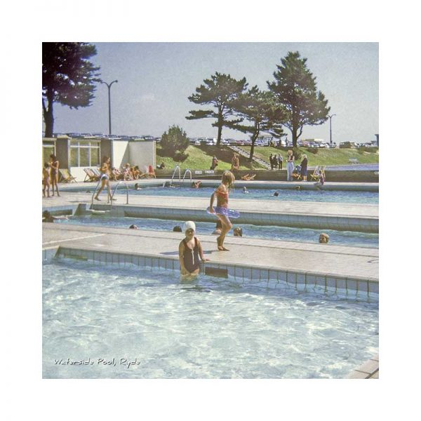 Vintage photograph Ryde Waterside Pool Isle Of Wight