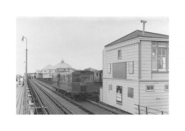 Vintage photograph Ryde Pier Tram Isle Of Wight