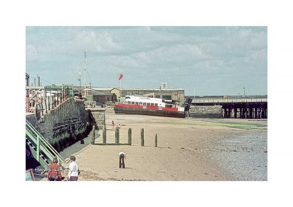 Vintage photograph Ryde Hovercraft Isle Of Wight