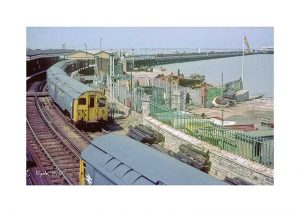 Vintage photograph Ryde Train Isle Of Wight