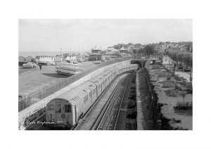 Vintage photograph Ryde Esplanade Station Isle Of Wight