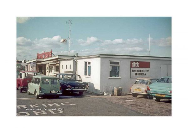 Vintage photograph Hovercraft Terminal Ryde Isle Of Wight