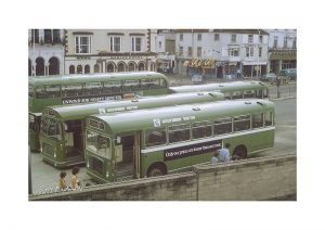 Vintage photograph Ryde Esplanade Buses Isle Of Wight