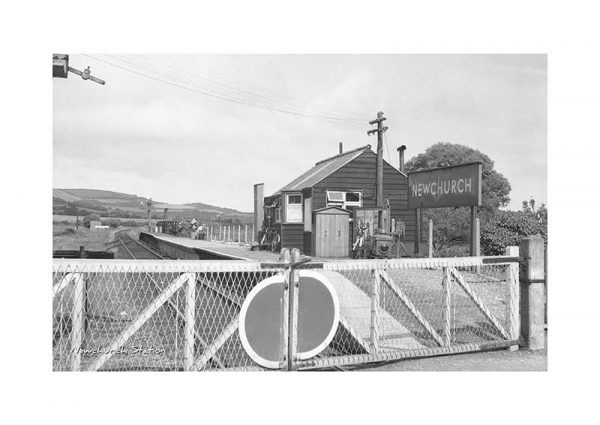 Vintage photograph Newchurch Station Isle Of Wight
