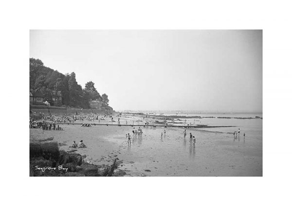 Vintage photograph Seagrove Bay Seaview Isle Of Wight