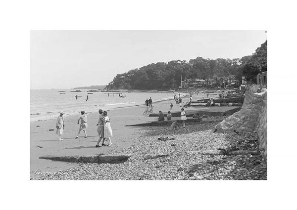 Vintage photograph of Seagrove Bay Seaview Isle Of Wight