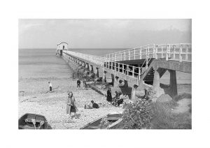 Vintage photograph Bembridge lifeboat station Isle Of Wight