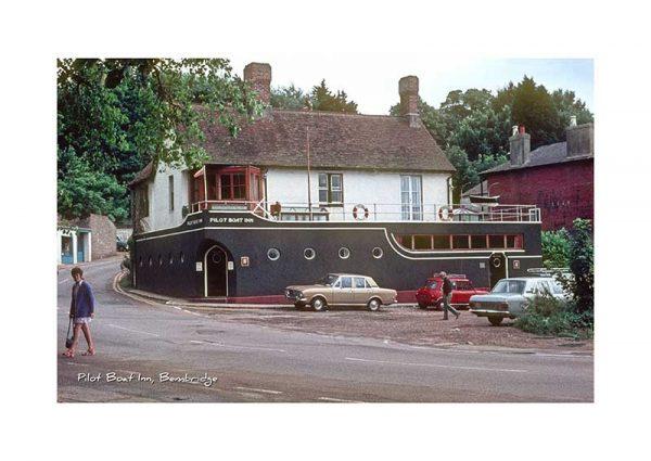 Vintage photograph The Pilot Boat Inn Bembridge Isle Of Wight