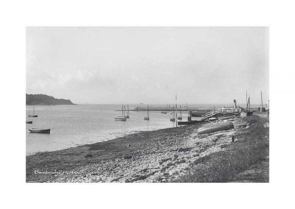 Vintage photograph Bembridge Harbour Isle Of Wight