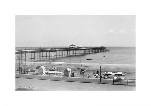 Vintage photograph of Shanklin Pier Isle Of Wight