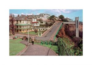 Vintage photograph Cliff Walk Shanklin Isle Of Wight