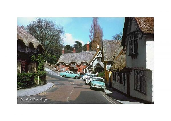 Vintage photograph of Shanklin Old village Isle Of wight