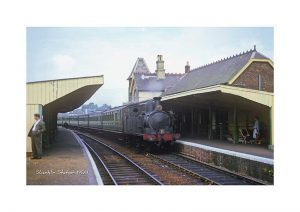 Vintage photograph Shanklin Station Isle Of Wight