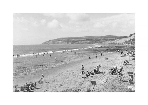 Vintage photograph Sandown Bay Isle Of Wight