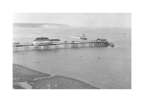 Vintage photograph Shanklin Pier Isle Of Wight
